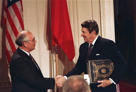 President Reagan and General Secretary Gorbachev