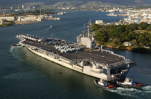 Preparing to Moor in Pearl Harbor, HI