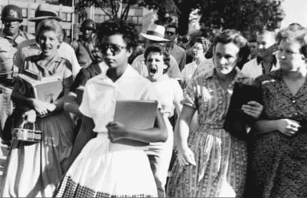 Elizabeth Eckford Spat on by Democratic Segregationists