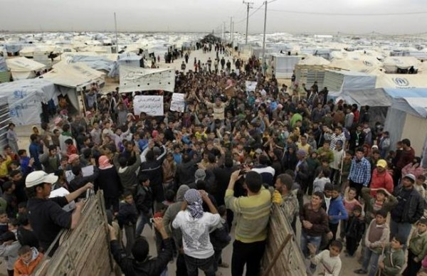 Syrian refugees riot in Jordan camp; 3 hurt