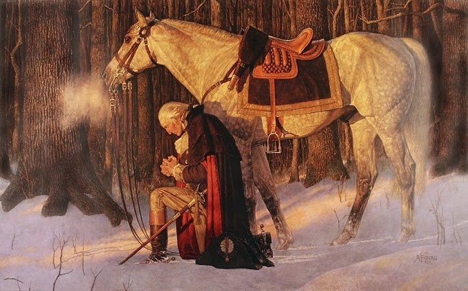 General Washington - In Prayer at Valley Forge