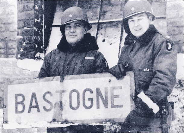 7,000 paratroopers of the 101st Airborne surrounded and under siege by two Nazi Panzer Divisions in Bastogne. Patton's Third Army punched though and reestablished supply lines and communications on Dev 27, 1944.
