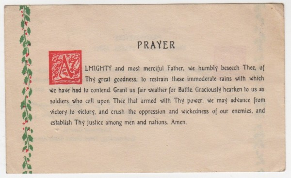 Patton's Christmas Prayer