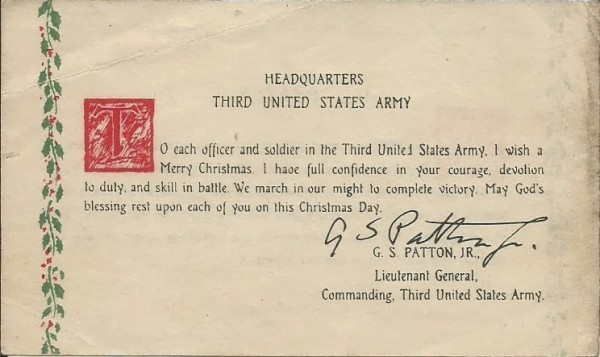 Patton's Christmas Greeting